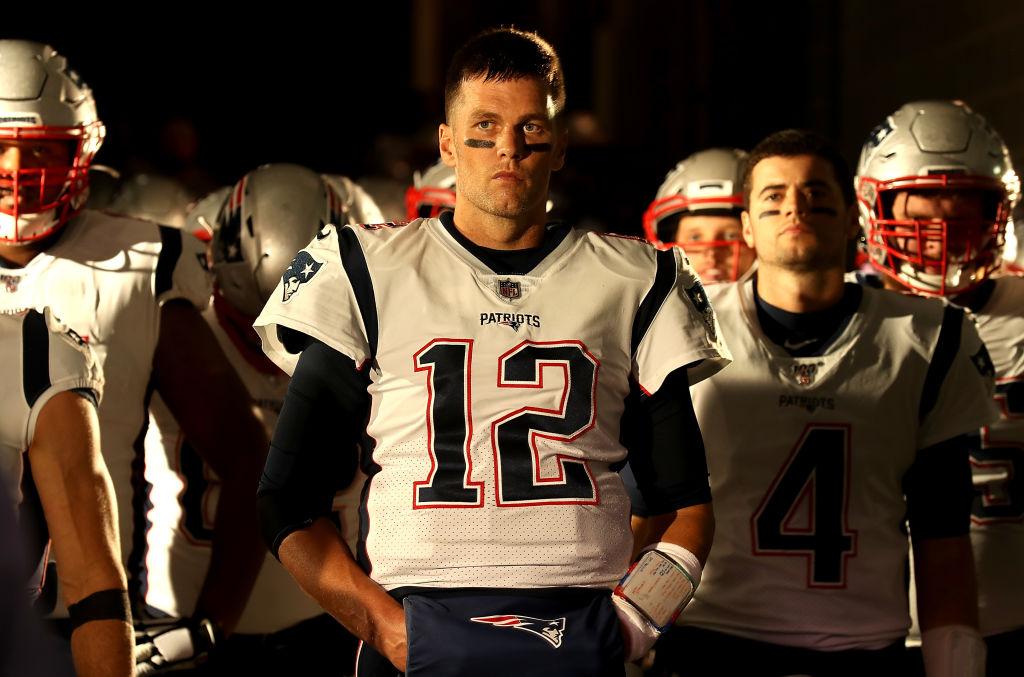Quarterback Tom Brady wears his No. 12 jersey