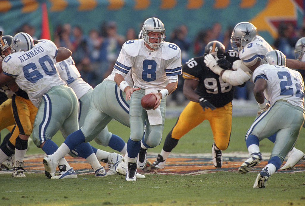 Troy Aikman led the Dallas Cowboys to three Super Bowl titles.