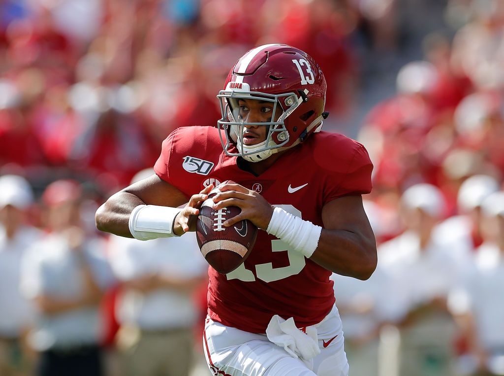 Alabama quarterback Tua Tagovailoa is expected to be a first-round selection in the 2020 NFL draft. Tagovailoa has earned comparisons to NFL Hall of Famer Steve Young.