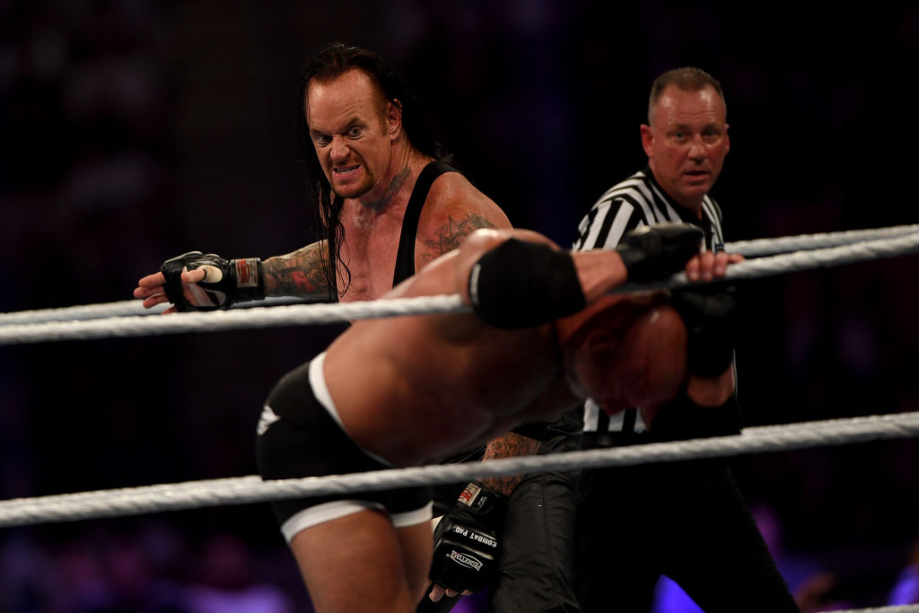 WWE star The Undertaker competes against Goldberg in 2019