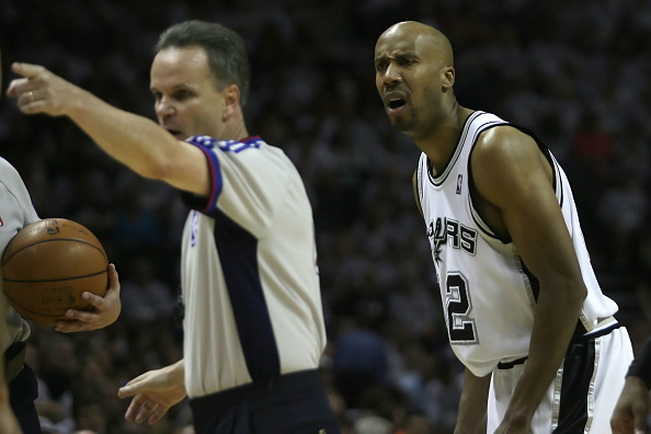 Bruce Bowen playing with the Spurs