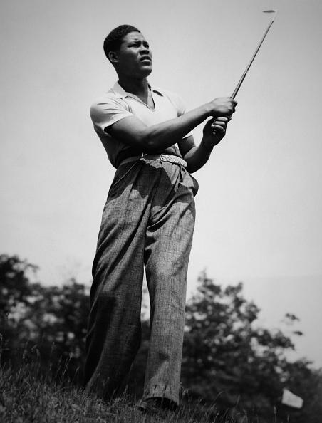 Joe Louis golfing