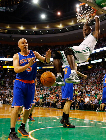 Kevin Garnett with the Celtics