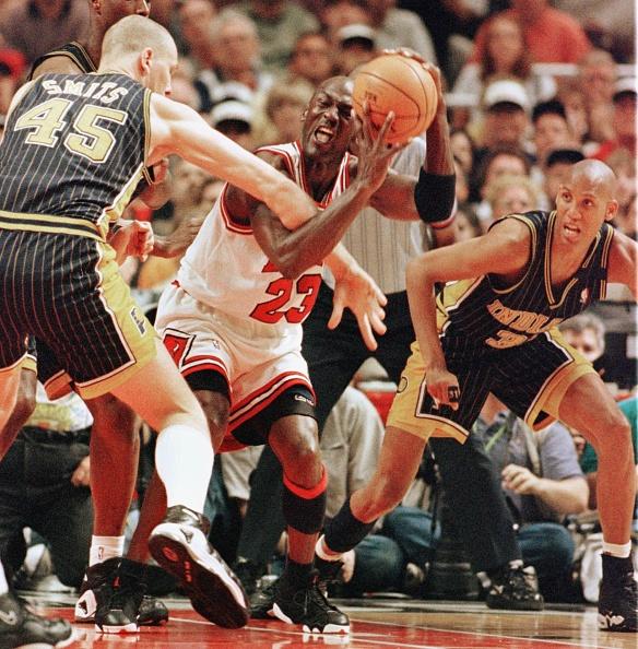 Michael Jordan and Reggie Miller
