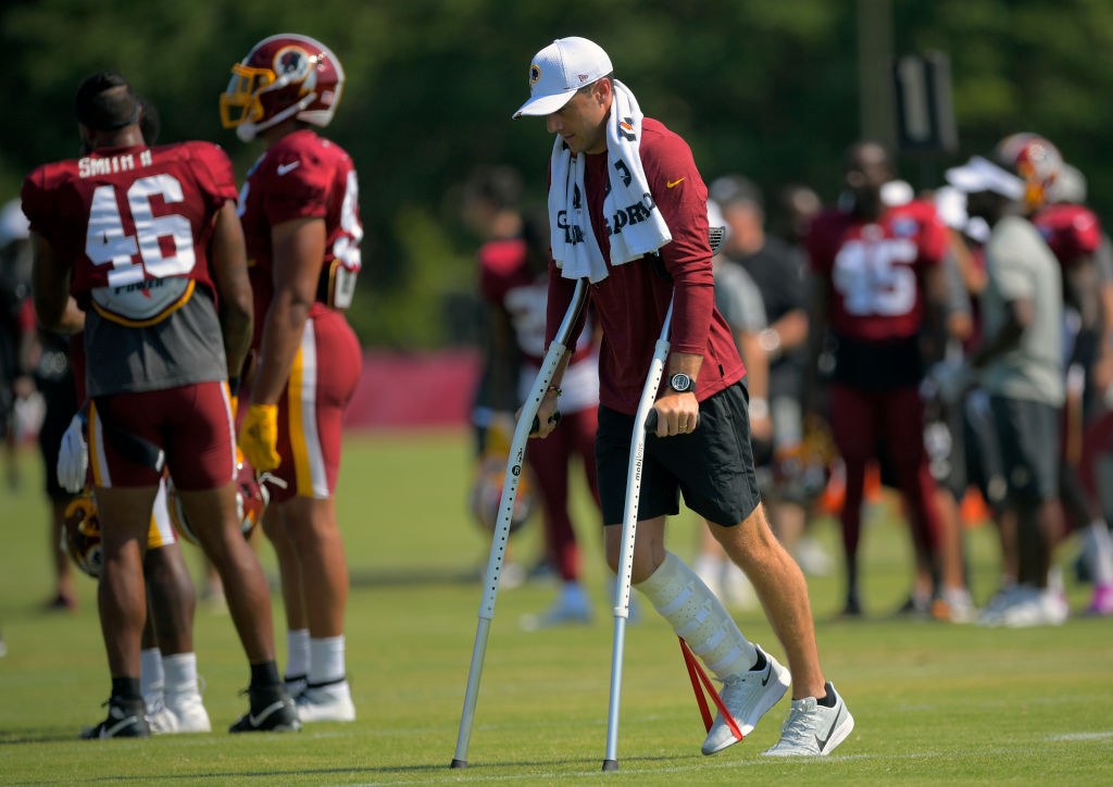 Redskins quarterback Alex Smith nearly died after contracting a flesh-eating bacteria while recovering from a gruesome leg injury.