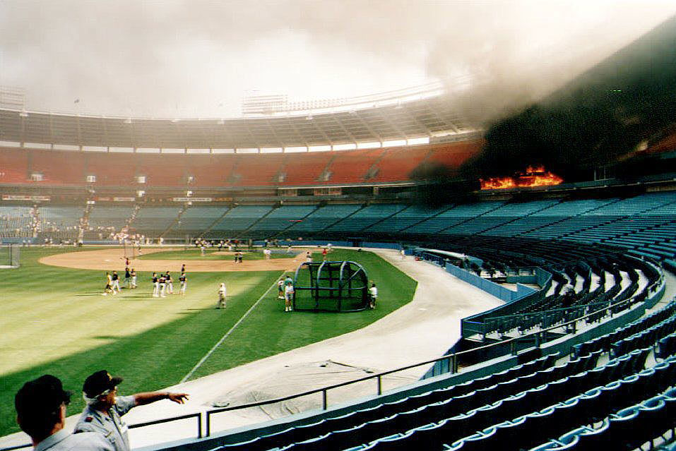 The Night the Atlanta Braves and Their Stadium Caught Fire