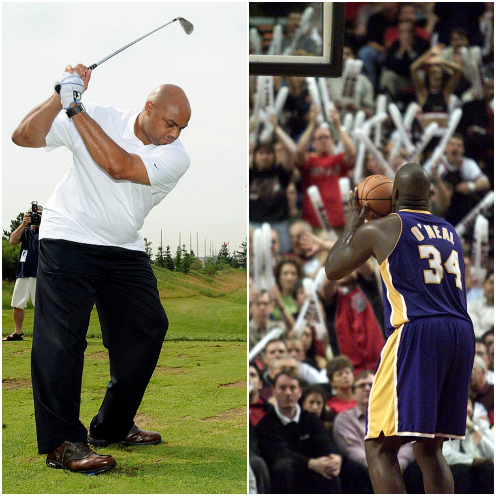 Charles Barkley's Golf Swing Is Uglier Than Shaquille O'Neal's Free Throws