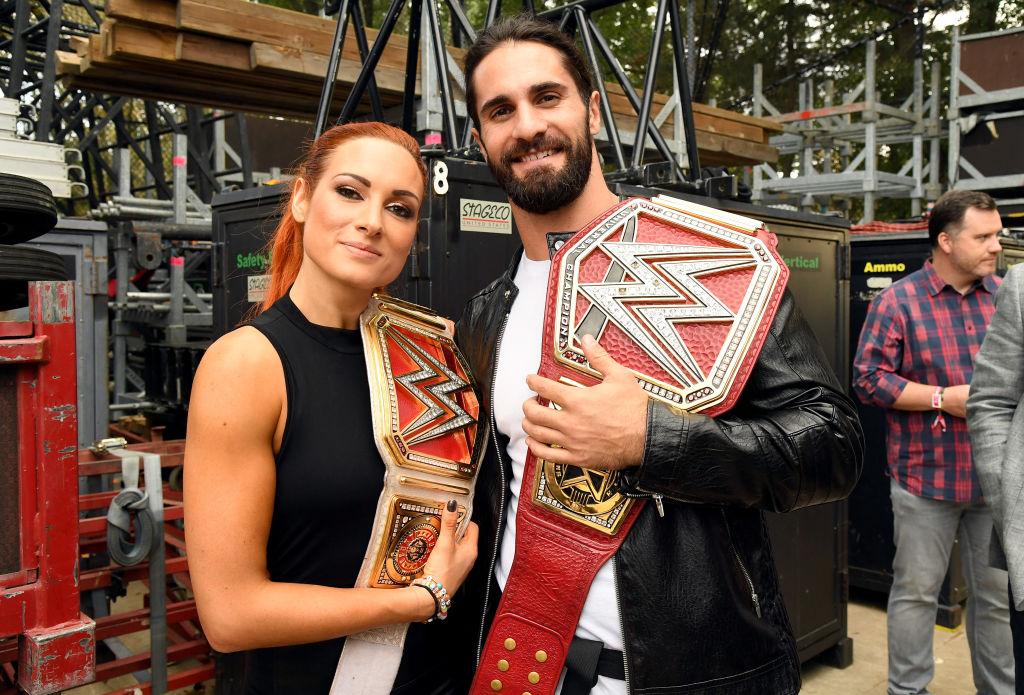 WWE stars Becky Lynch Seth Rollins