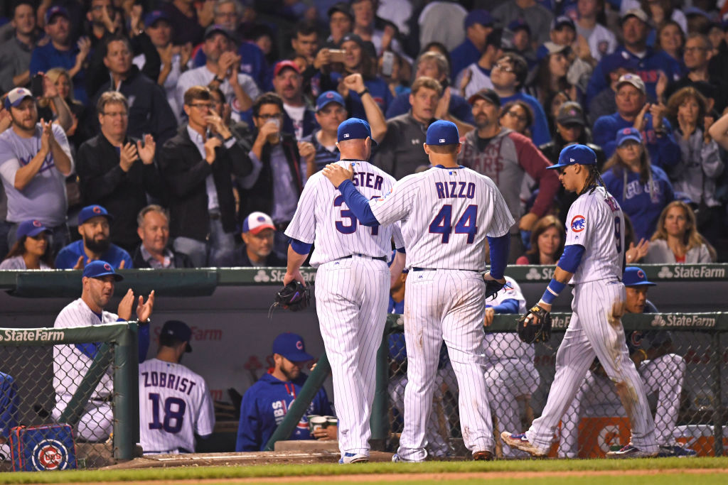 Chicago Cubs first baseman Anthony Rizzo and starting pitcher Jon Lester