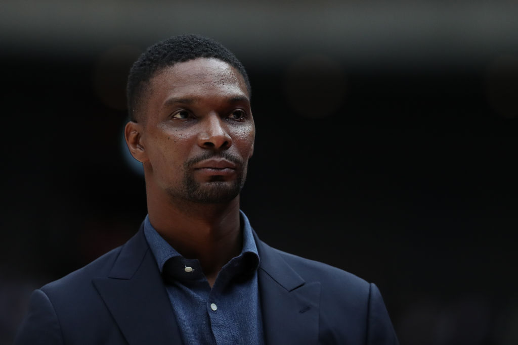 Former Heat forward Chris Bosh