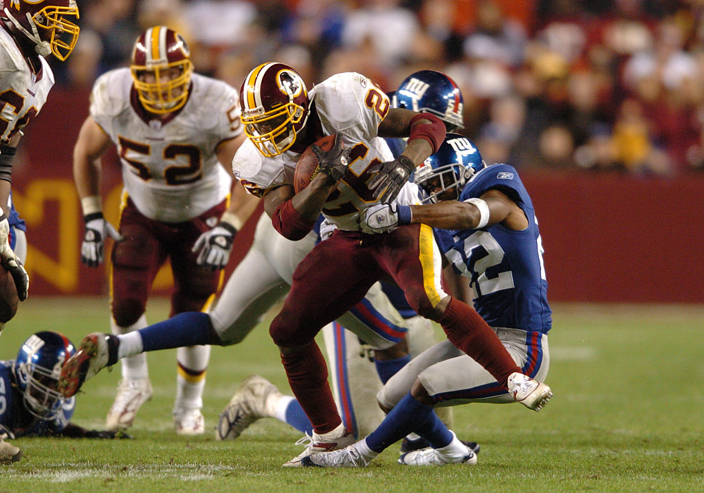Former Washington Redskins running back Clinton Portis earned heavy fines for wearing red socks instead of white.