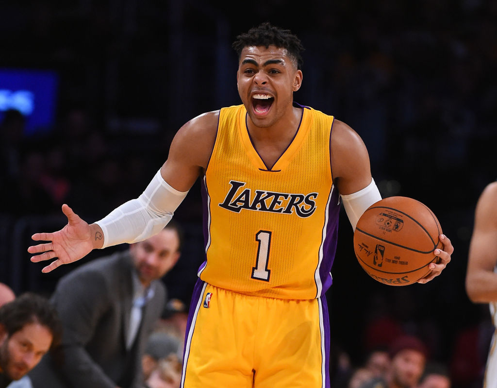 D'Angelo Russell played for the Los Angeles Lakers from 2015-17. The Lakers used a top-5 pick on Russell in 2015.