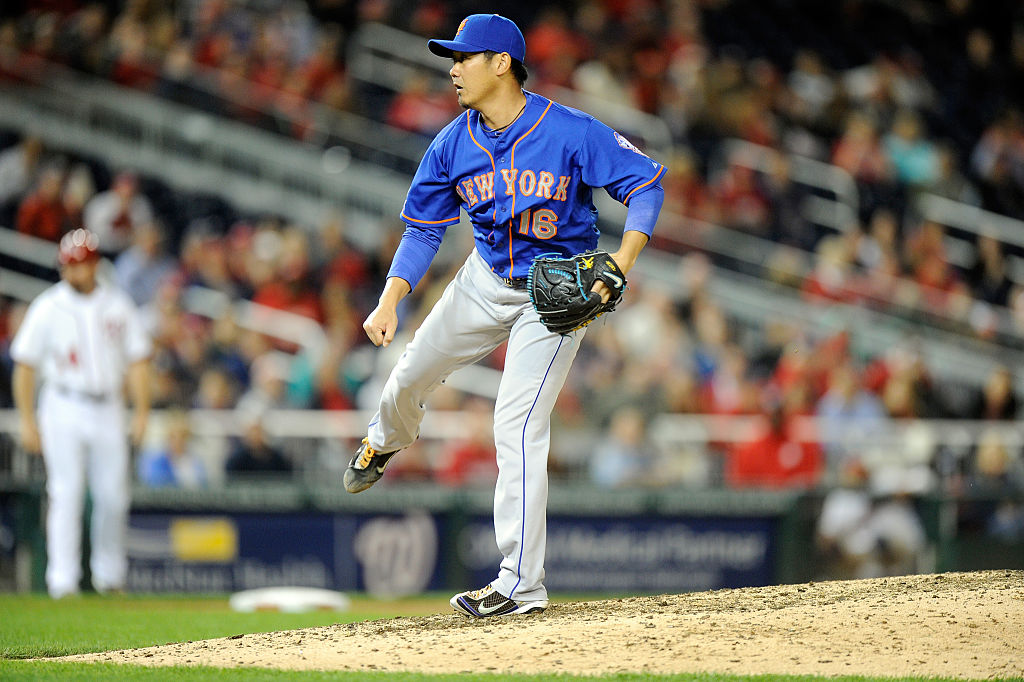 Daisuke Matsuzaka of the New York Mets pitches in 2014
