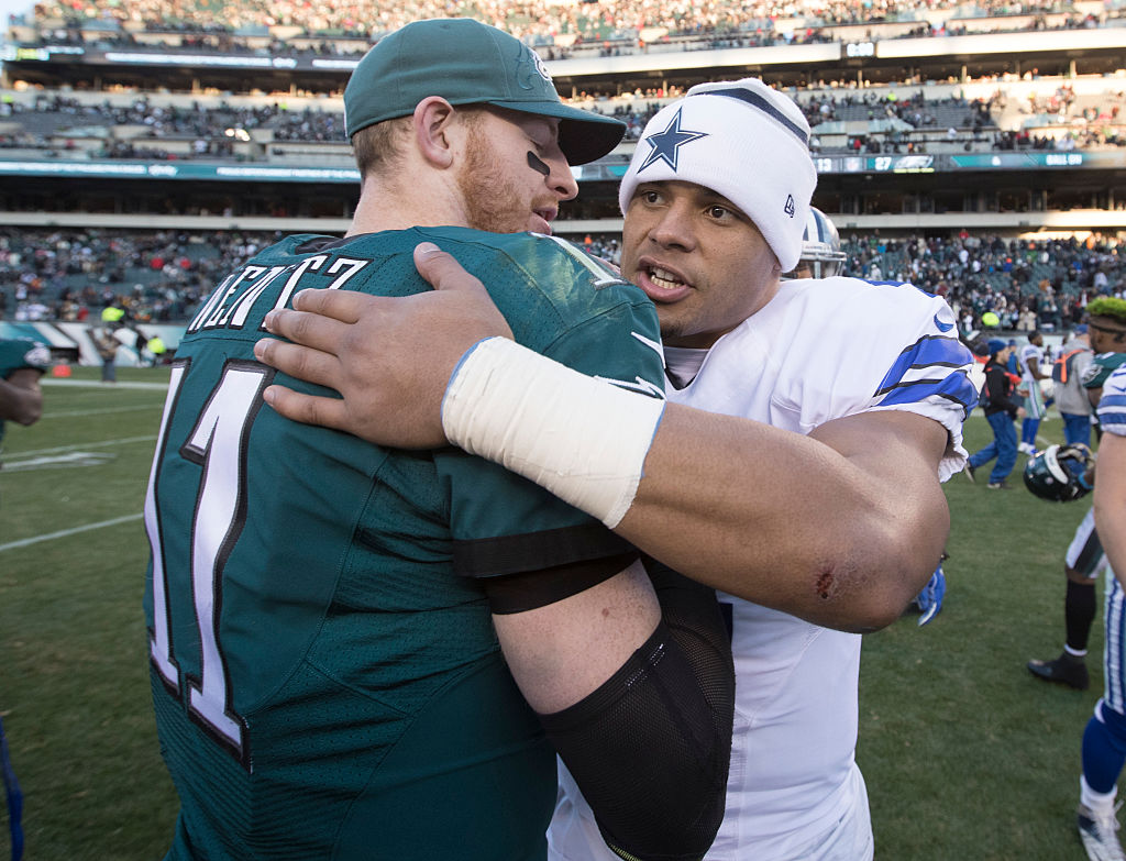 Dak Prescott has been a great QB for the Cowboys and Carson Wentz has been excellent for the Eagles. The comparisons need to stop, though.