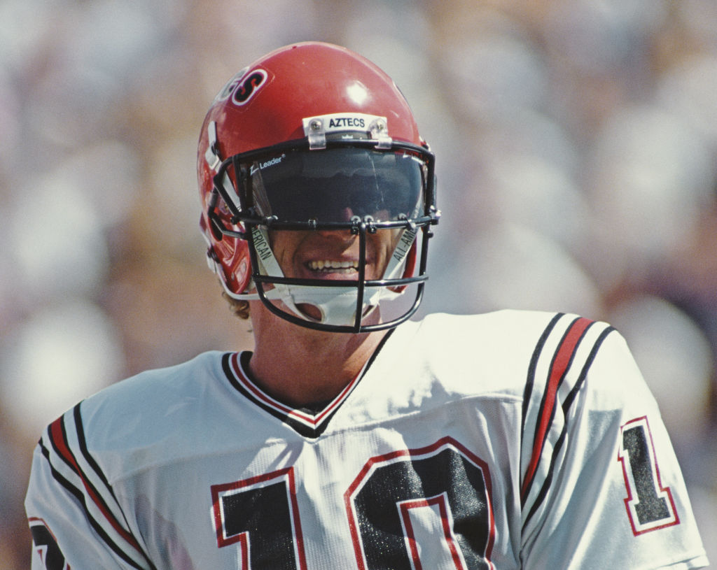 Dan McGwire, quarterback for the San Diego State University Aztecs in 1990
