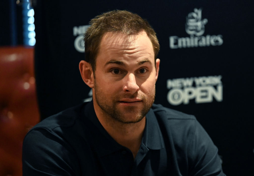 Former world No. 1-ranked tennis player Andy Roddick attends a media luncheon in 2019