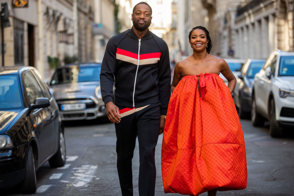 Gabrielle Union and Dwyane Wade at Paris Fashion Week