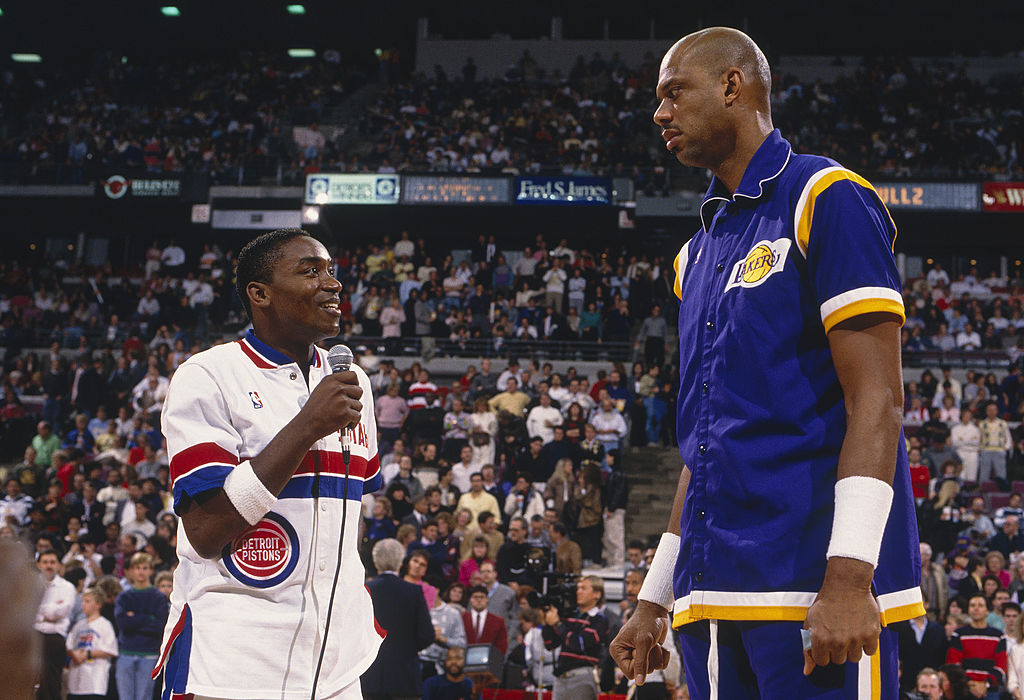 Hall of Famers Isiah Thomas and Kareem Abdul-Jabbar