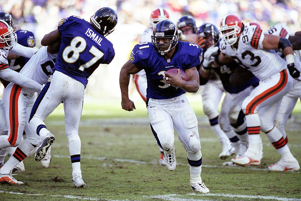 Former Ravens star running back Jamal Lewis once ran for 2,000 yards in a season. Lewis later became a concussion advocate and motivational speaker.