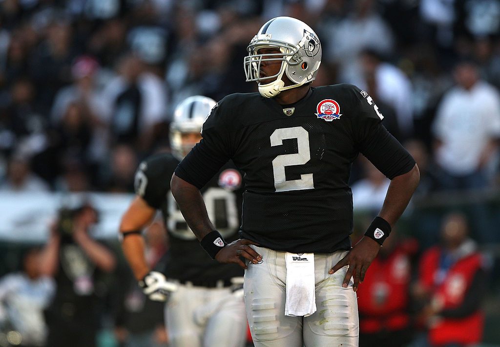 Jamarcus Russell wouldn't study game tape without an order of junior bacon cheeseburger.