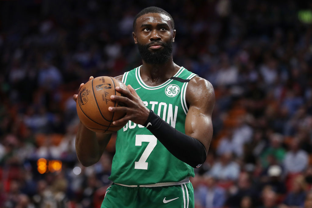 Boston Celtics guard Jaylen Brown dove 15 hours to protest in his home state of Georgia.