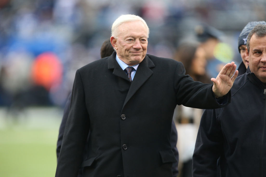 Jerry Jones runs the Dallas Cowboys, but he doesn't consider that work