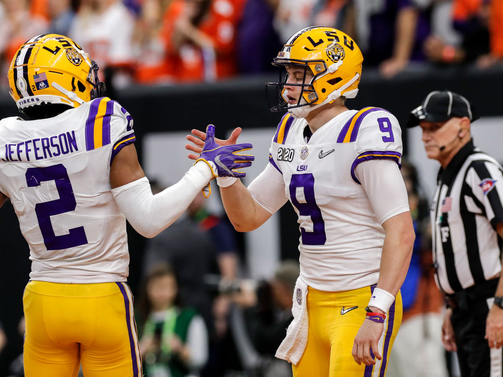 Joe Burrow and LSU's record-setting NFL draft class can make up to $124 million in rookie contracts.