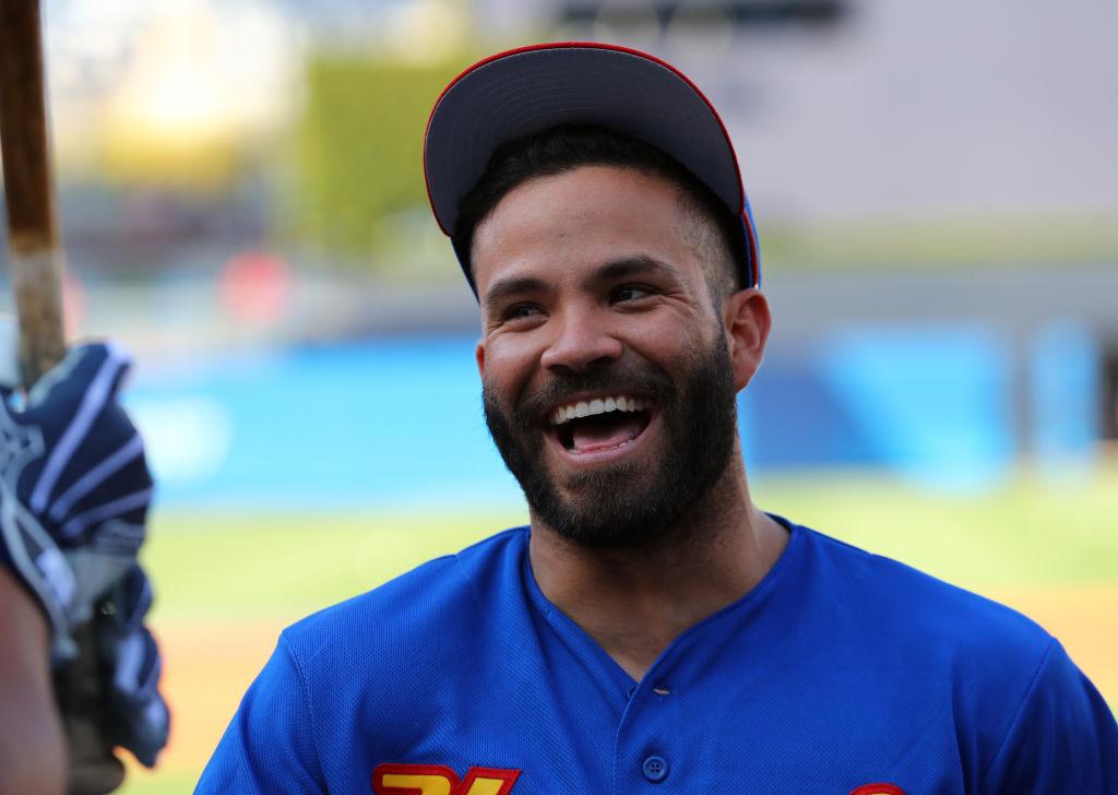 Jose Altuve of Team Venezuela during the 2017 World Baseball Classic