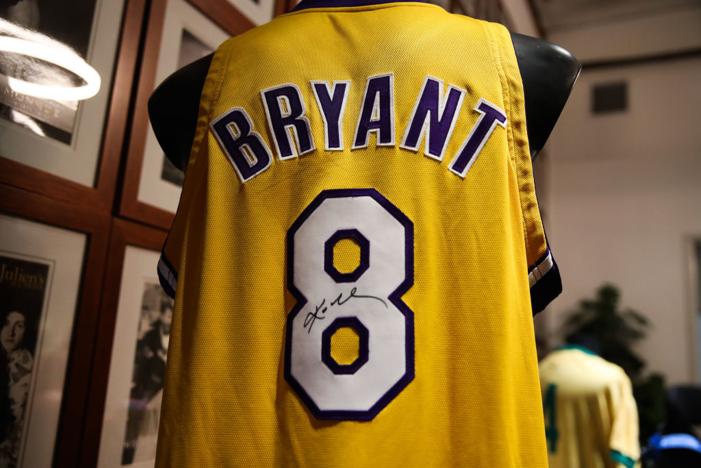 A Kobe Bryant signed and game-worn jersey