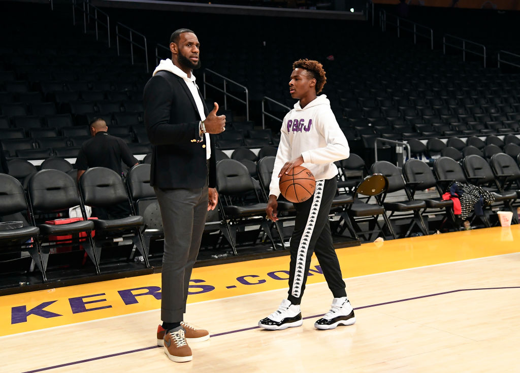 LeBron James grew up playing football, but didn't want his son, Bronny, to do the same.