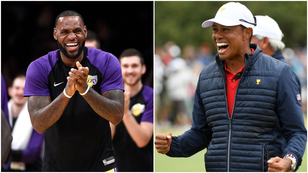 Tiger Woods and LeBron James are two of the greatest athletes ever. They both also have massive respect for each other.