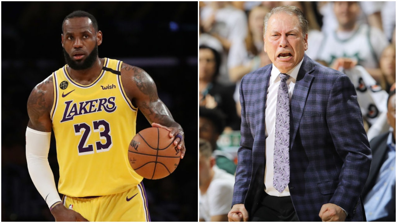 LeBron James and Tom Izzo have both done great things for the sport of basketball. They could have won championships together, though.
