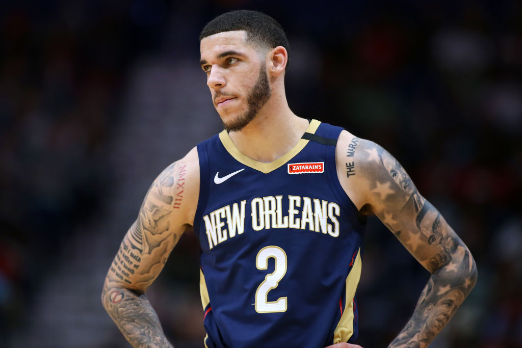 Lonzo Ball of the New Orleans Pelicans