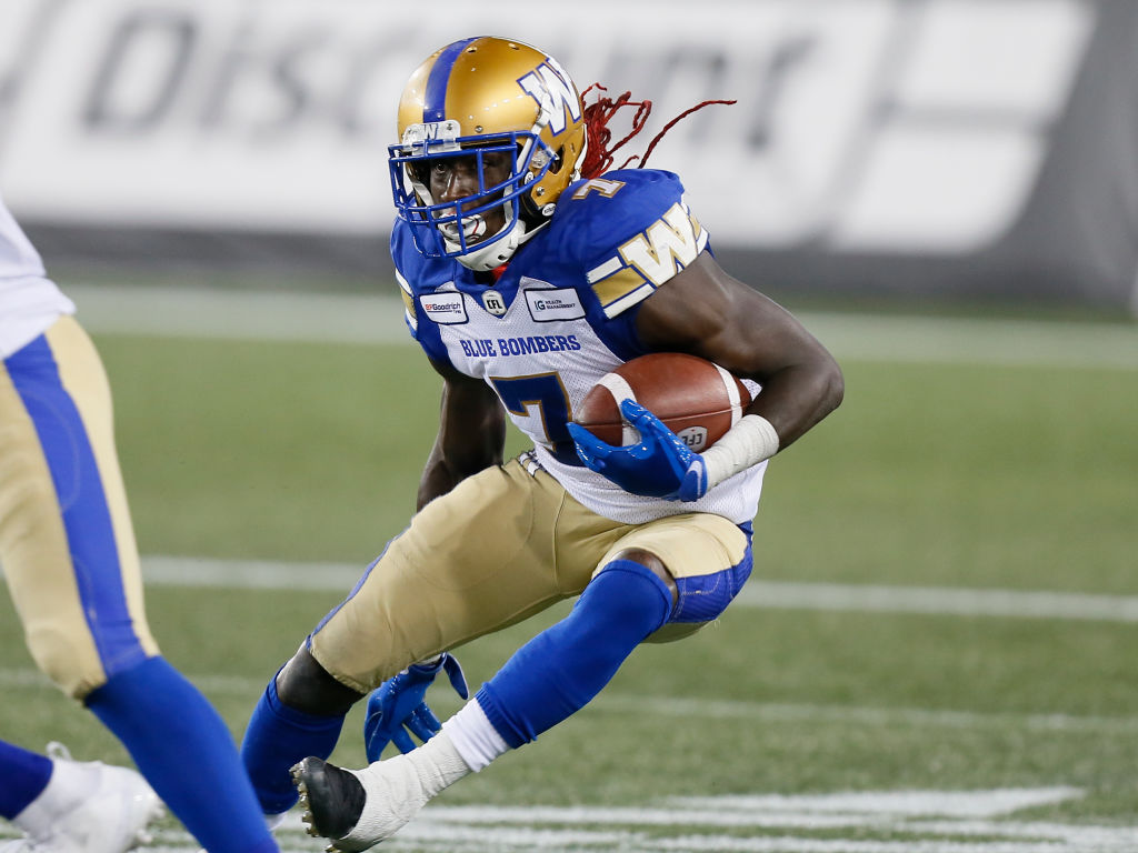 Former Dallas Cowboys returner Lucky Whitehead now plays for the CFL's Winnipeg Blue Bombers. Whitehead's recent workout routines went viral.