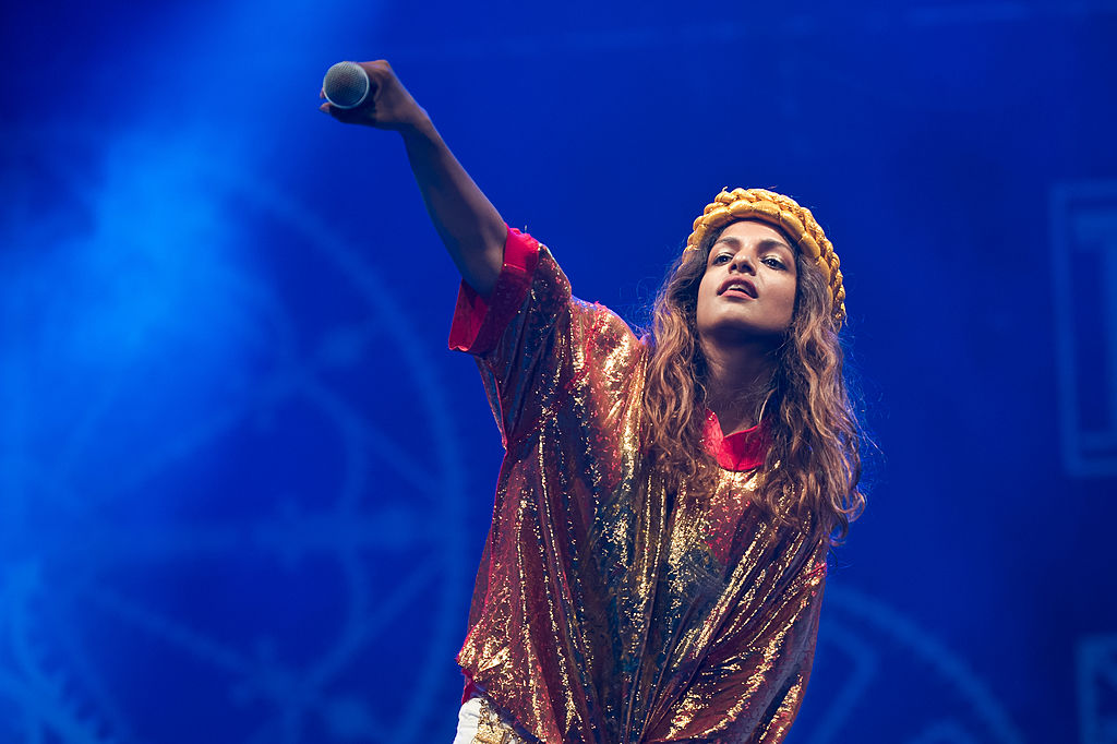 The NFL sued rapper M.I.A. after she made a lewd gesture during a Super Bowl performance in 2012.