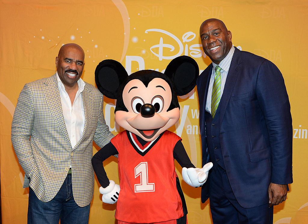 Disney Parks hosts Steve Harvey and NBA Hall of Fame member Magic Johnson