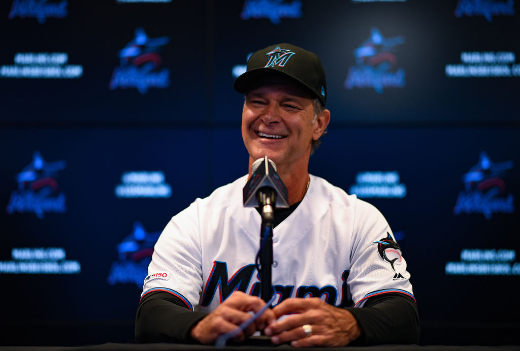 Manager Don Mattingly of the Miami Marlins