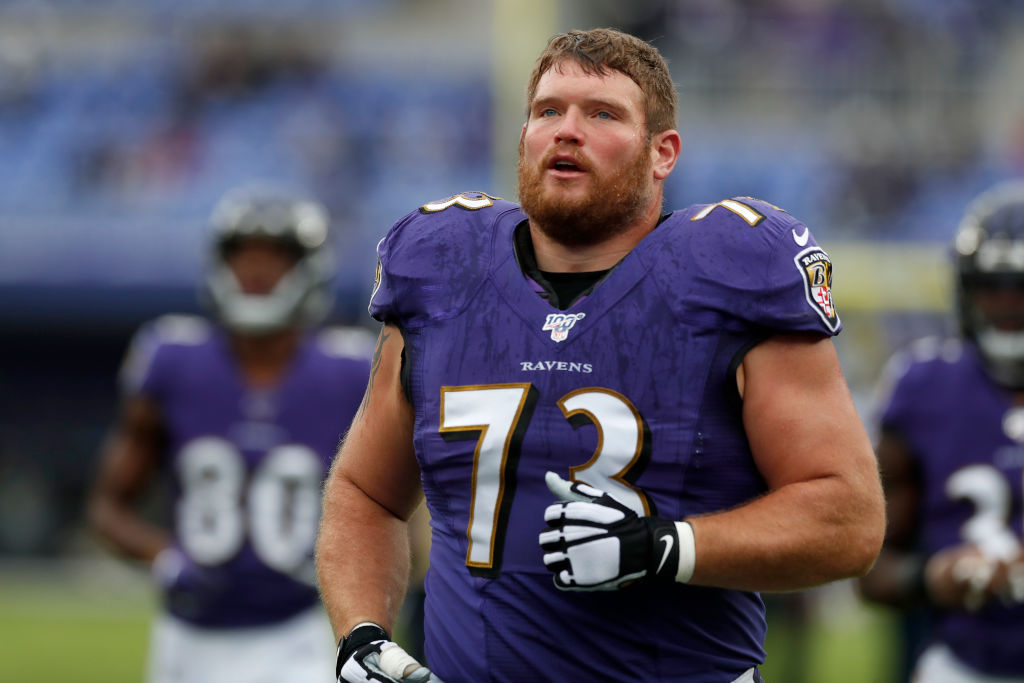 Marshal Yanda has dropped 60 pounds since retiring from the Ravens after the 2019 season.