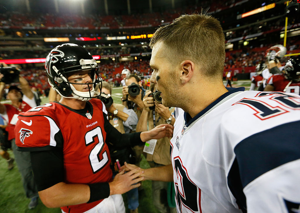 Matt Ryan and Tom Brady will battle for NFC South supremacy.
