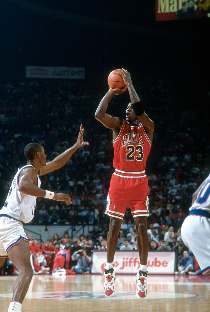 Michael Jordan scores most points in NBA playoff game