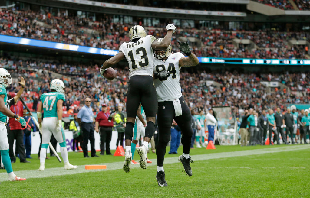 Michael Thomas and DeVante Parker may play the same position, but the Saints star blows him away in both production and money.