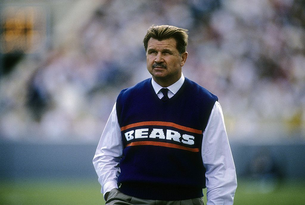 Mike Ditka coaching the Chicago Bears during an NFL game