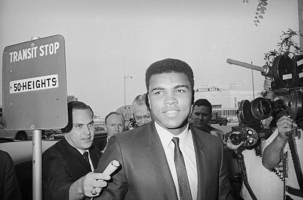 Muhammad Ali aka Cassius Clay arrives to court