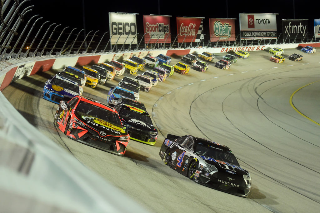 NASCAR Toyota 500 Ends With Rain, a Wreck, and Plenty of Pit Row Fireworks