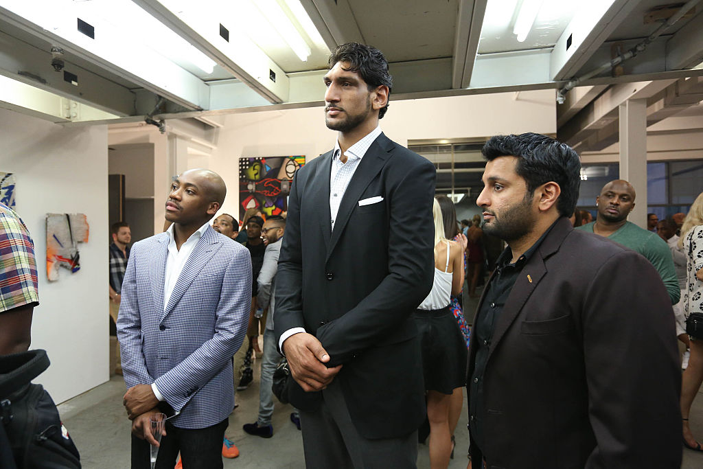 NBA draft prospect Satnam Singh in 2015
