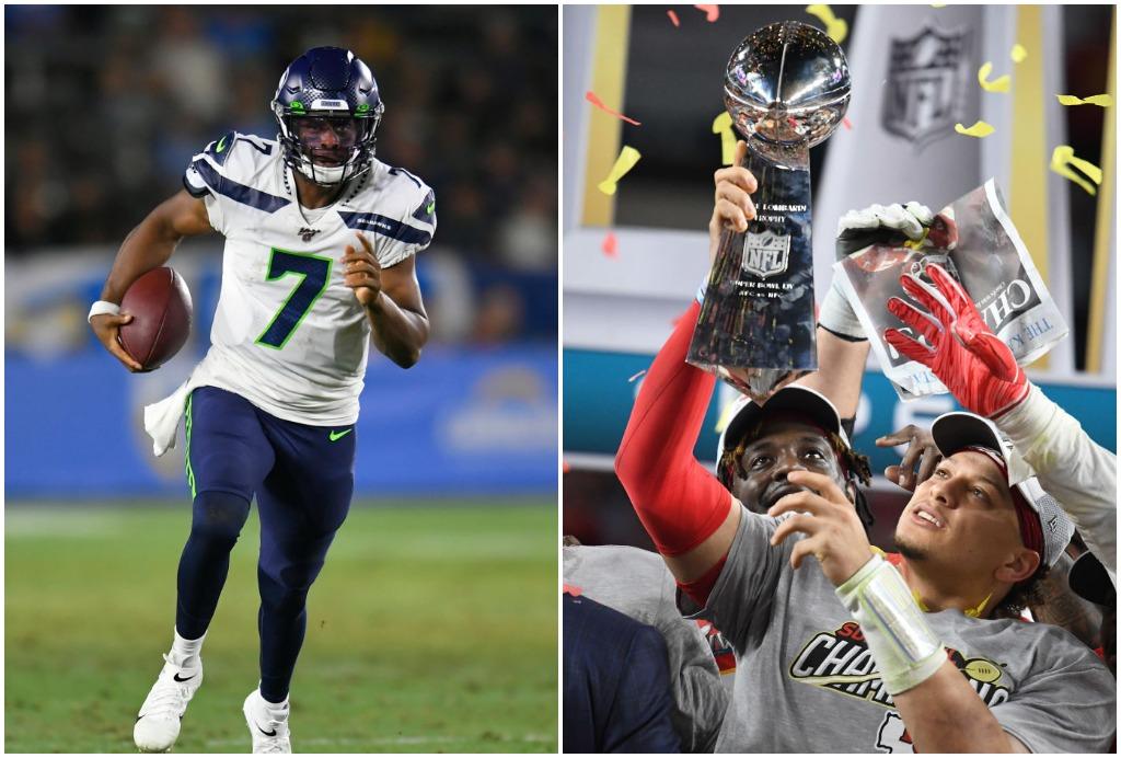 Patrick Mahomes and Geno Smith share a unique NFL playoff accomplishment.