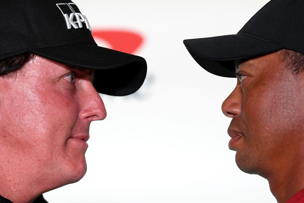 Tiger Woods and Phil Mickelson face off on Sunday. No matter who wins, though, Woods could still dominate Mickelson off the course.