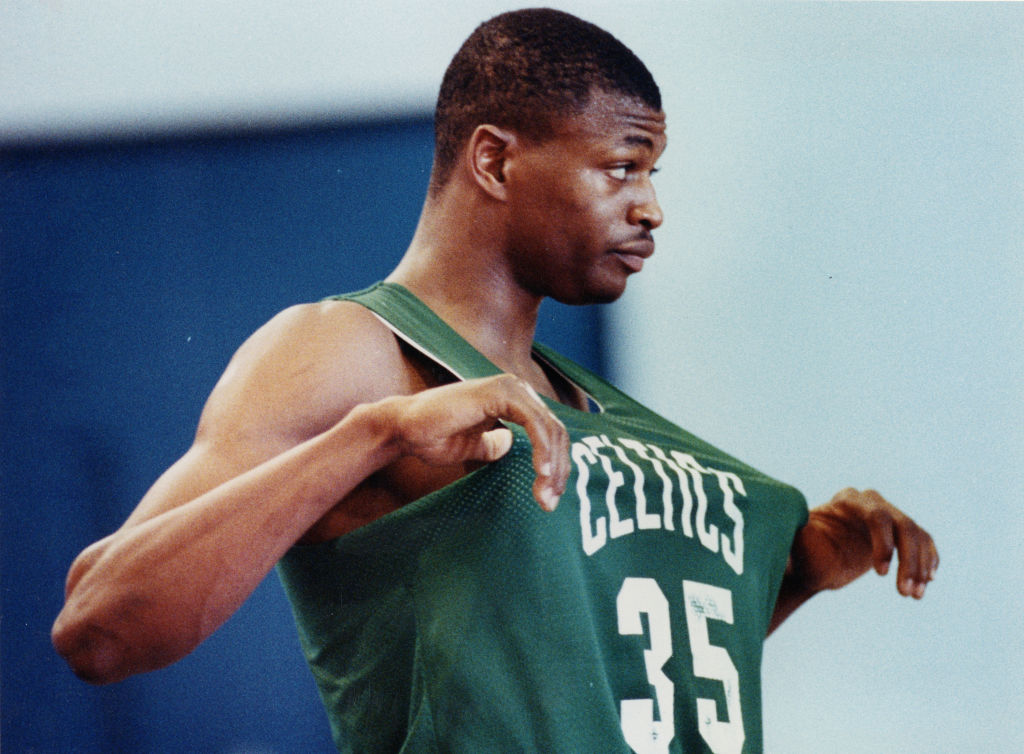 Reggie Lewis during Celtics practice in Boston in 1989