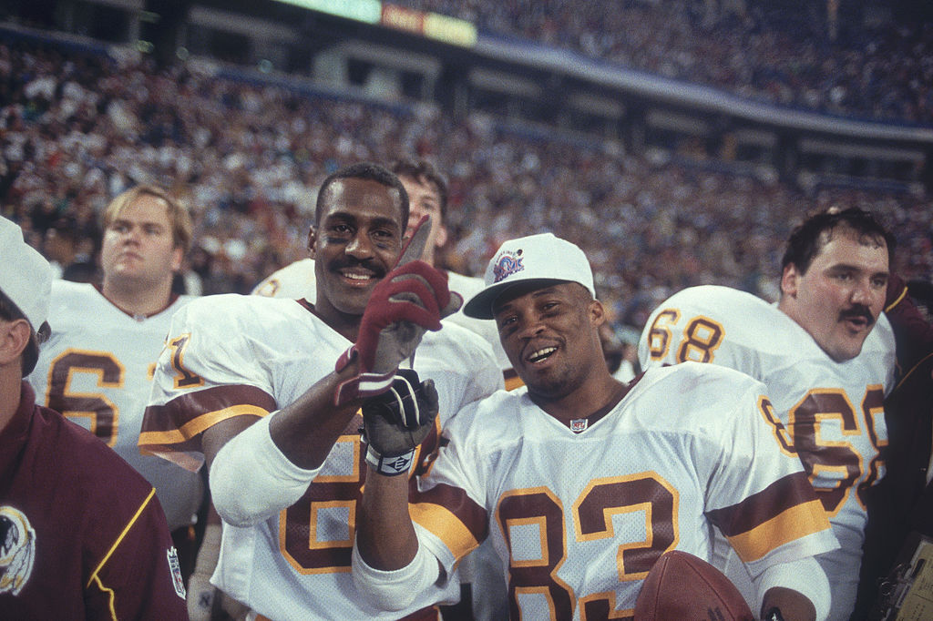 Ricky Sanders and Art Monk of the Washington Redskins