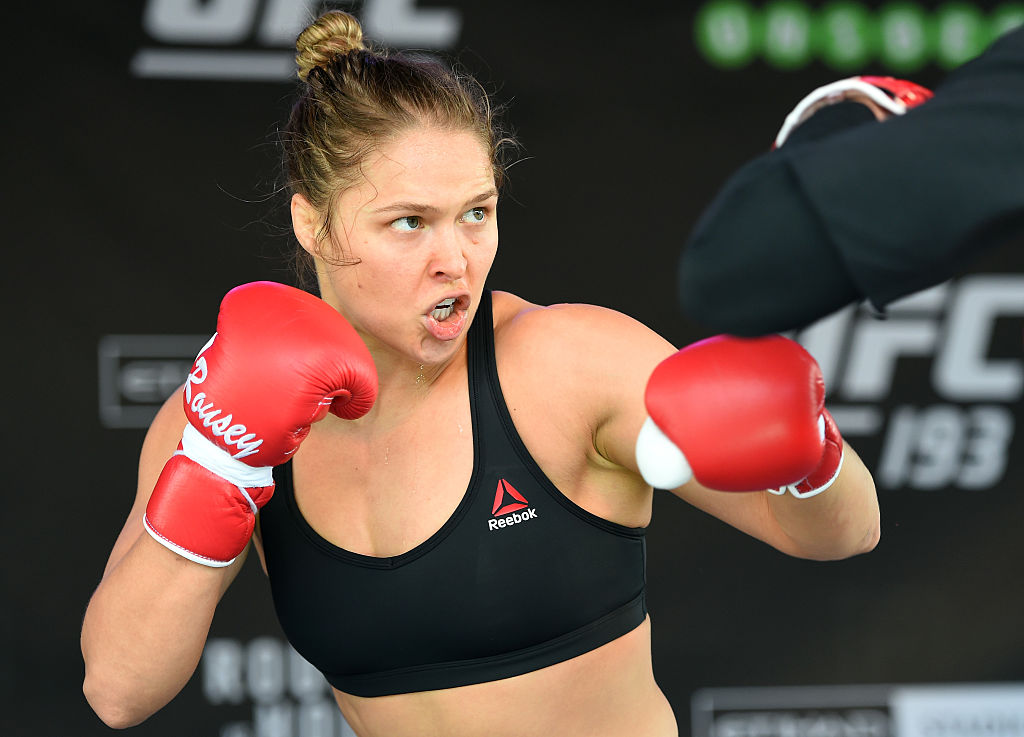 Ronda Rousey training for a UFC fight